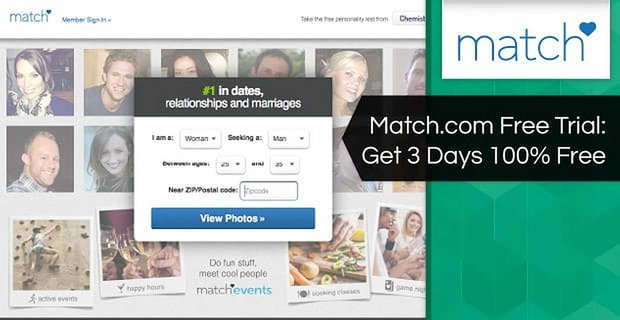 Match.com Free Trial — 3 Days 100% Free