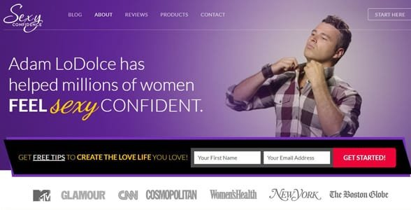 Screenshot of SexyConfidence.com