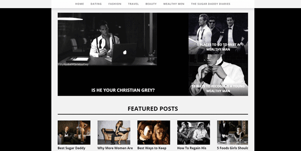 Screenshot of the WealthyMen blog