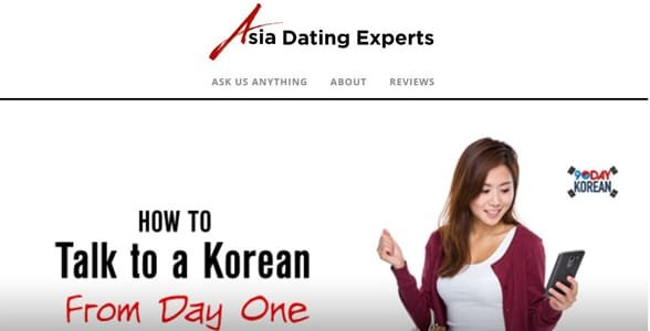 Screenshot of the Asia Dating Experts homepage