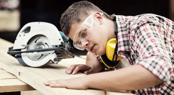 Photo of a carpenter working