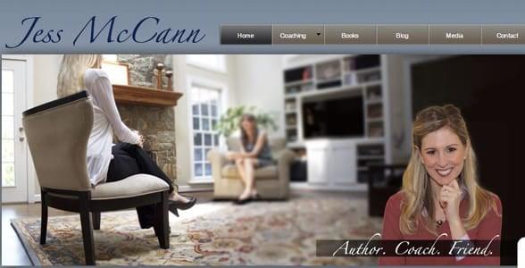 Screenshot of Jess McCann's website