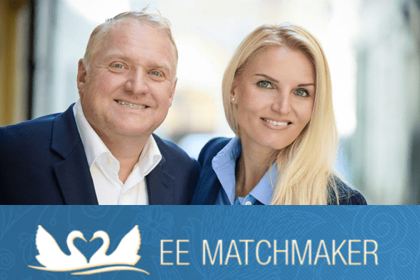 Photo of Rodney and Jitka and the Eastern European Matchmaker logo