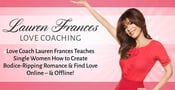 Love Coach Lauren Frances Teaches Single Women How to Create Bodice-Ripping Romances & Find Love Online — & Offline!