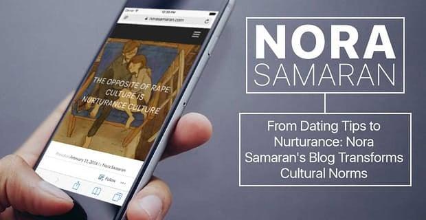 Nora Samaran Blog Transforms Cultural Norms