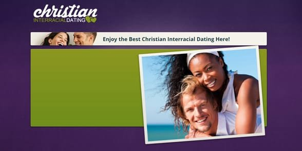 Screenshot of the ChristianInterracialDating homepage