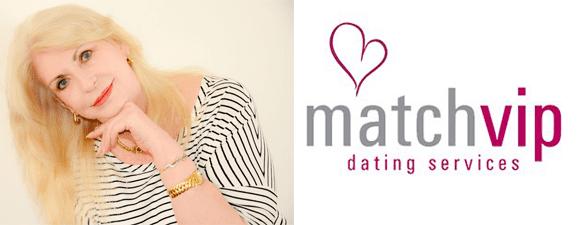 Shannon Davidoff's headshot and the MatchVIP logo