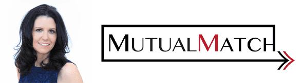 Terran Shea's headshot and the Mutual Match logo