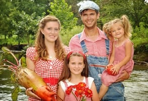 Photo of Baker Creek Heirloom Seeds Founder Jere Gettle and his family
