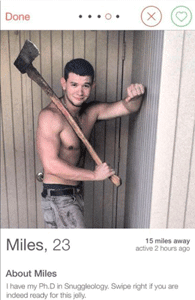 Screenshot of a Tinder profile