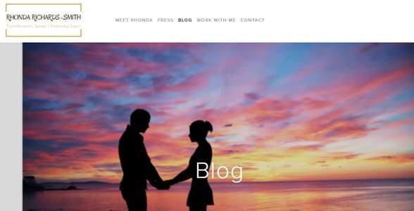 Screenshot of Rhonda's blog