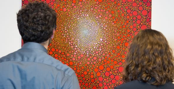 Photo of a couple at the deCordova museum