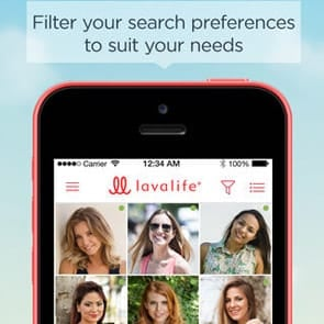 Photo of the Lavalife app