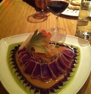 Photo of seared big eye tuna served by Pacific Rim by Kana