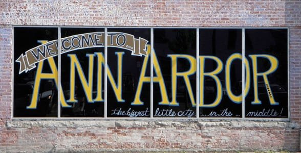 Photo of an Ann Arbor welcome sign