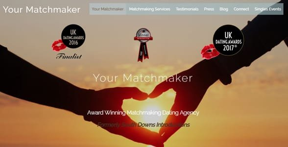 Screenshot from Your Matchmaker's website