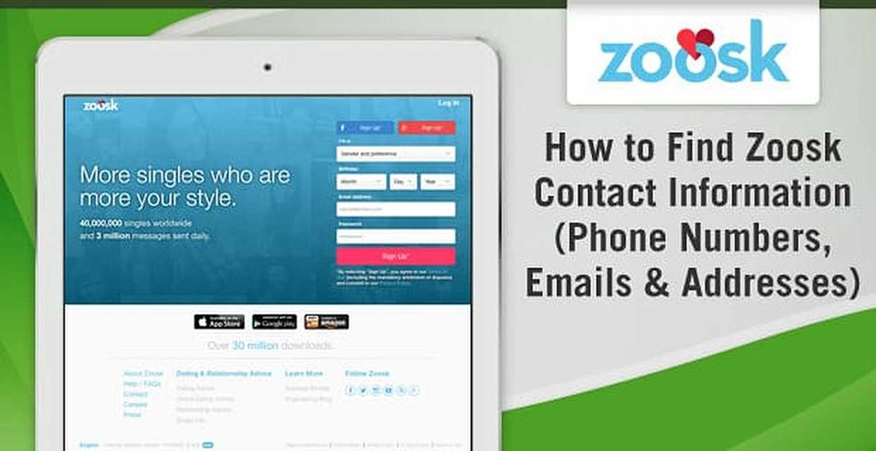 Zoosk Contact Information — (Phone Numbers, Emails
