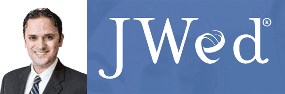 Ben Rabizadeh's headshot and the JWed logo