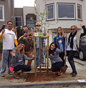 Photo of a FUF tree-planting event