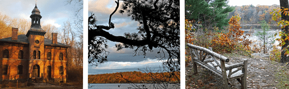 Collage of photos from the Hudson Valley