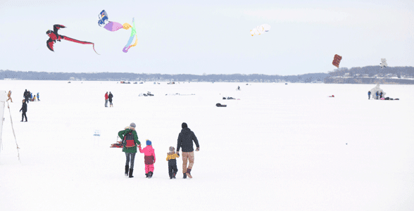 Photo of a family at the Frozen Assets Festival