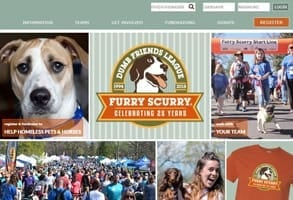 Screenshot of the Furry Scurry webpage