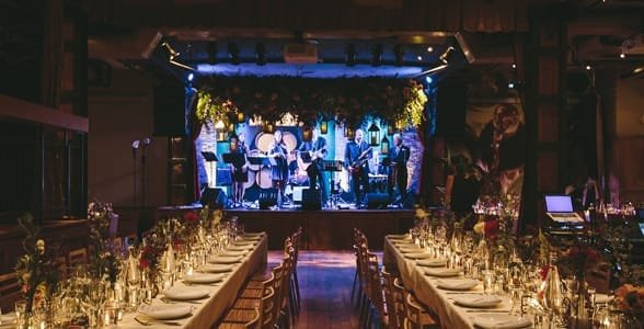 Photo of a wedding reception at NYC's City Winery
