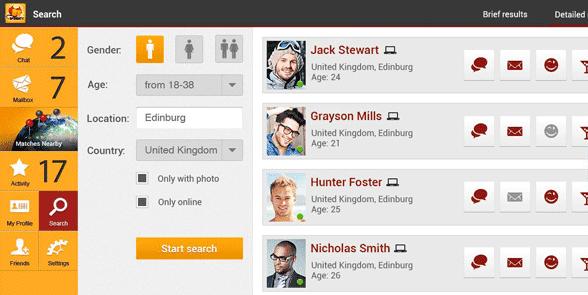 Screenshot of BeNaughty profiles