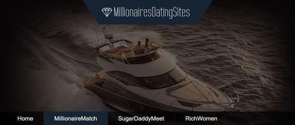 Screenshot of MillionairesDatingSites.com