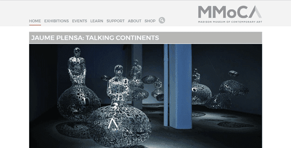 Screenshot of the Madison Museum of Contemporary Art's website