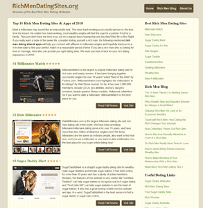 Screenshot of RichMenDatingSites.org