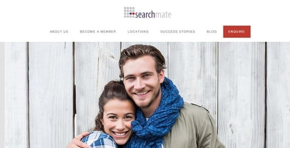 Screenshot of Searchmate's homepage