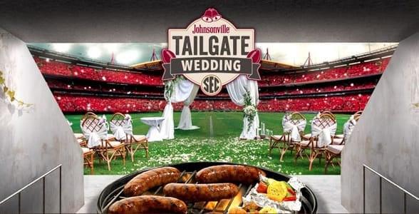 Screenshot of Johnsonville's Tailgate Wedding Contest