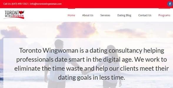 Screenshot of Toronto Wingwoman's website