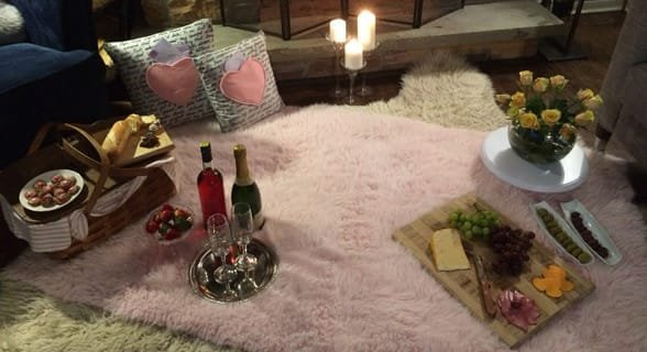 Photo of a living room picnic