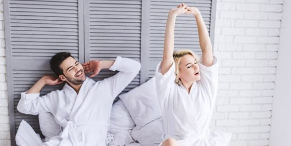 Photo of a couple in bed