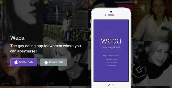 Screenshot of Wapa's landing page