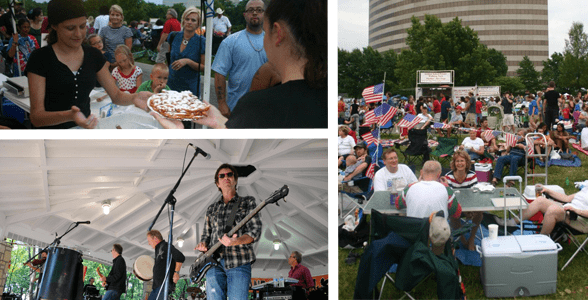 Collage of photos from Overland Park festivals