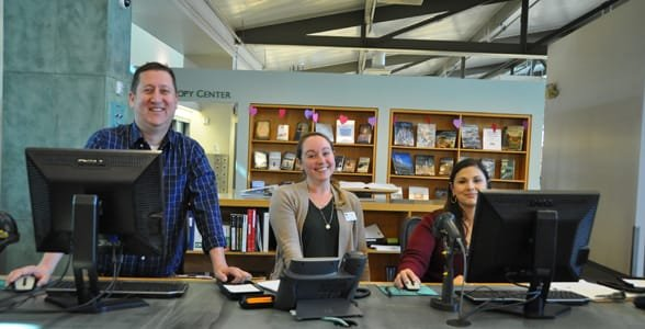 Photo of librarians at the Newport Beach Public Library