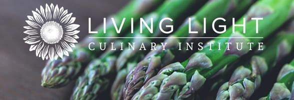 Photo of the Living Light Culinary Institute banner