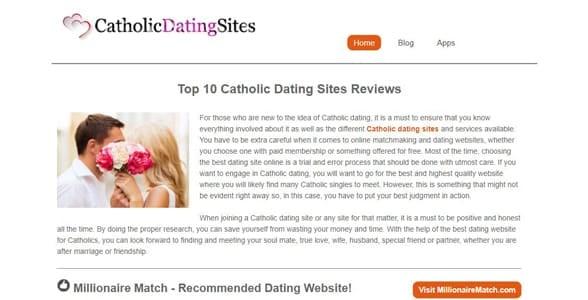 Screenshot of CatholicDatingSites.org