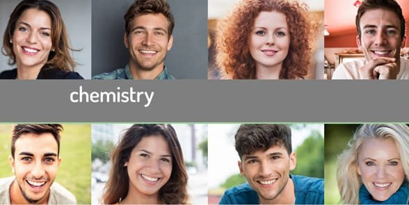 Screenshot of the Chemistry homepage