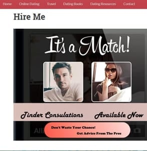 Screenshot of Masculine Profile's Tinder Consultant page
