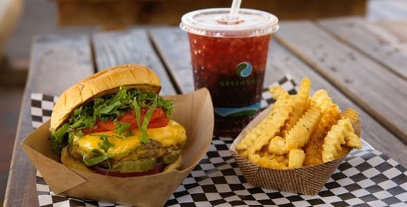 Photo of a hamburger and fries at Al's Burger Shack