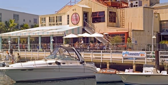 Photo of a waterfront restaurant in Newport Beach