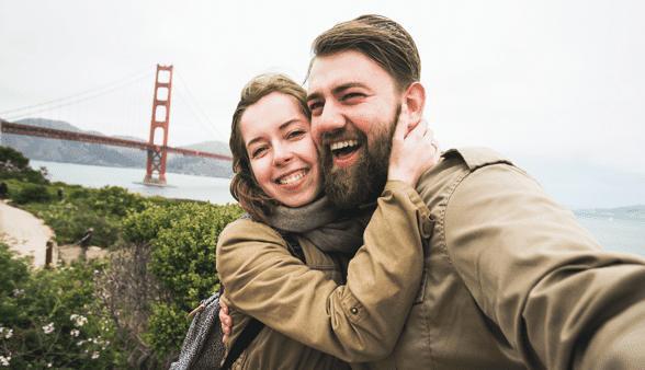 Photo of a couple on tour of San Francisco