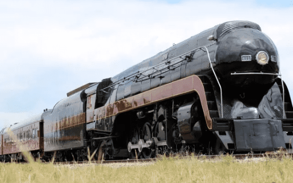 Photo of a modern steam locomotive at the Virginia Museum of Transportation