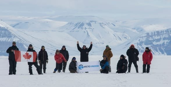 Photo of an Arctic Kingdom expedition group