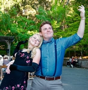 Photo of a couple at Filoli's Summer Nights events