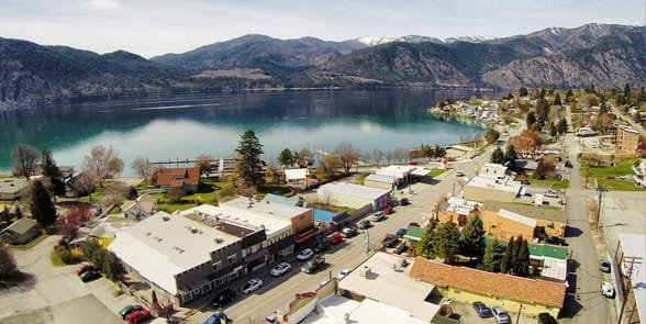 Photo of downtown Lake Chelan